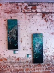 Humpback whale and jellyfish: 8x24, acrylic on cradled panel. $440 each.