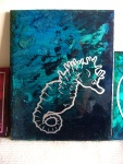 Seahorse: 11x14, acrylic on cradled panel. SOLD