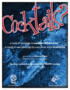 Cocktails Promo Poster