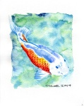 Koi 04 - 8x10 inches. Was $70, now $50.