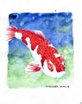 Koi 13 - 8x10 inches. Was $70, now $50.