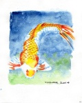 Koi 14 - 8x10 inches. Was $70, now $50.