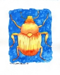 Golden Beetle (8x10 inches) - SOLD