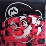 Mario (8x8 inches) - SOLD