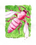 Pink Honeybee (8x10 inches) - SOLD