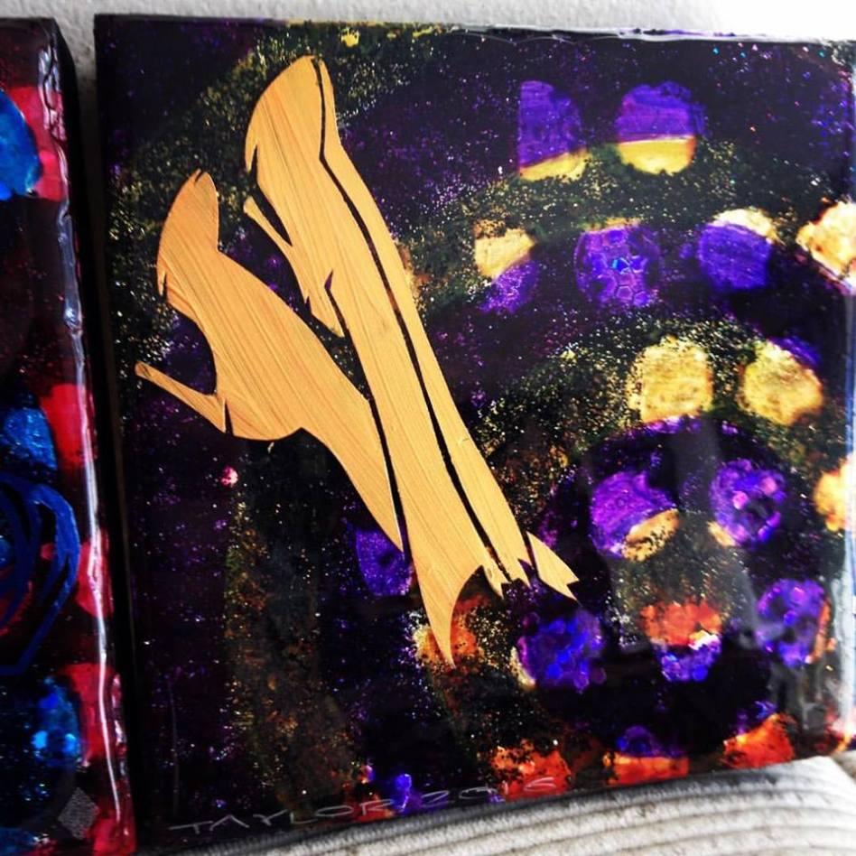 Batgirl Boots - 6x6 inches, $70
