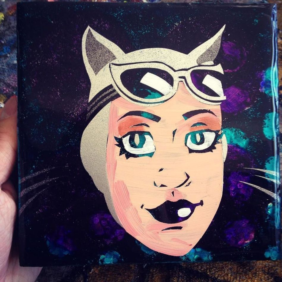 Catwoman - 6x6 inches, $70