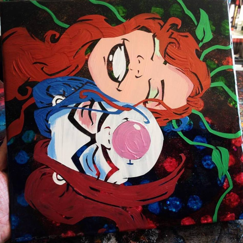 Harley + Ivy - 12x12 inches, $300
