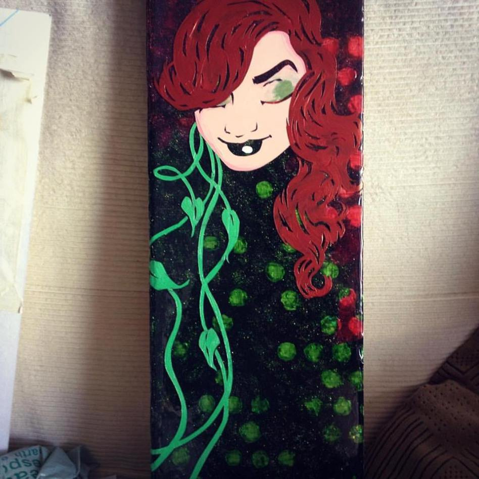 Poison Ivy - 24x8 inches, $400