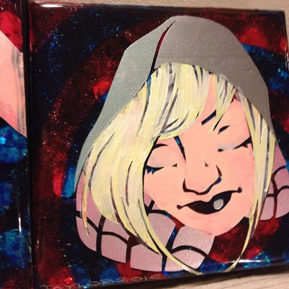 Spider-Gwen - 6x6 inches, $70