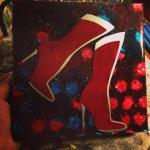 Wonder Woman Boots - 8x8 inches, $110