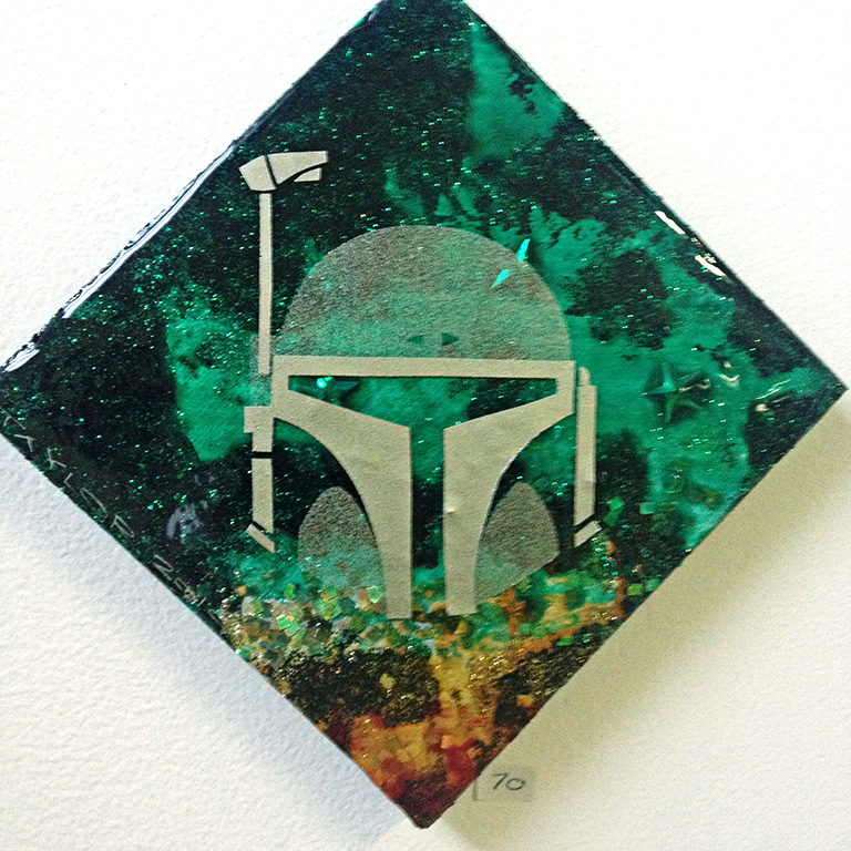 Boba Fett: 6x6 inches, $70.