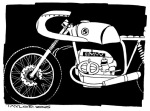Cafe Racer: 6x8 inches, $75