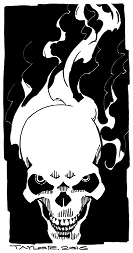 Ghost Rider: 5x9.5 inches, $75