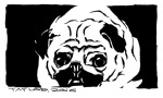 Pug: 5x8 inches, $70