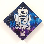 R2D2: 6x6 inches, $70.