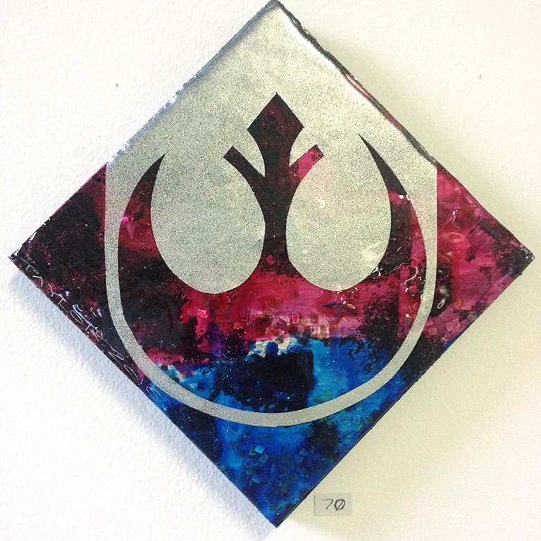 Rebel Alliance: 6x6 inches, $70.