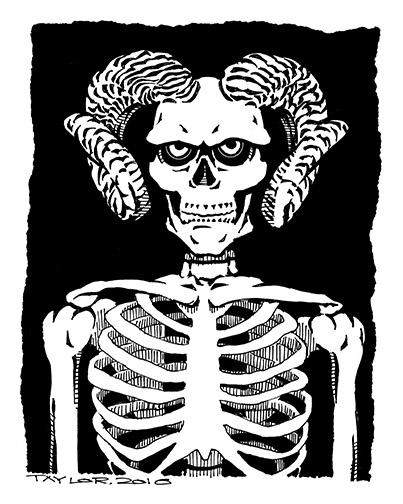Skeleton: 8x10 inches, $100