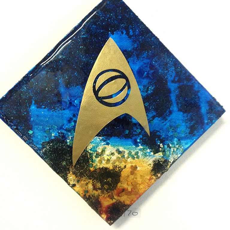 Science Officer Spock: 6x6 inches, $70.