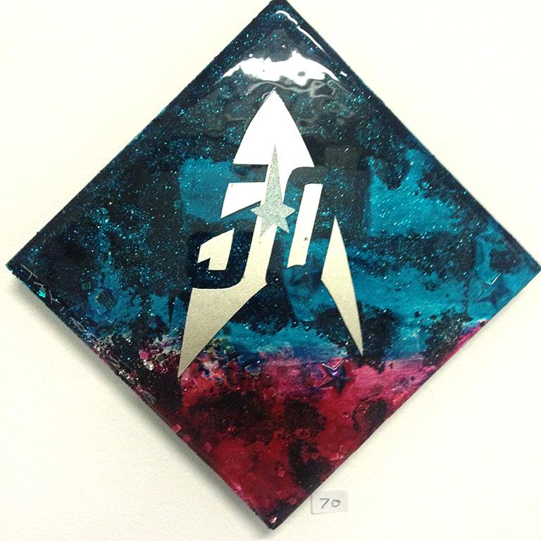 Star Trek 50th: 6x6 inches, $70.