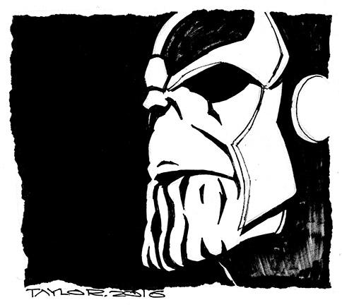 Thanos: 7x6.5 inches, $70
